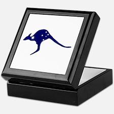 Kangaroo With Flag Stars Keepsake Box