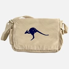 Kangaroo With Flag Stars Messenger Bag