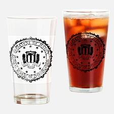 Funny Fbi seal Drinking Glass
