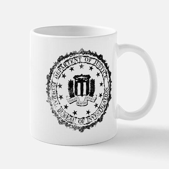 FBI Rubber Stamp Mugs