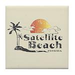 Satellite Beach Tile Coaster