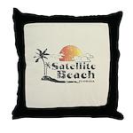 Satellite Beach Throw Pillow