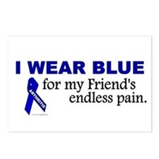 I Wear Blue For My Friend's Pain Postcards (Packag