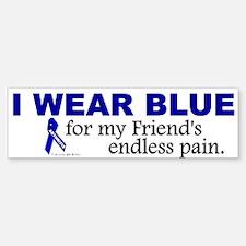 I Wear Blue For My Friend's Pain Bumper Bumper Bumper Sticker