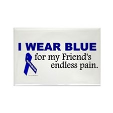 I Wear Blue For My Friend's Pain Rectangle Magnet