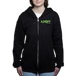 Adopt Women's Zip Hoodie (dark)