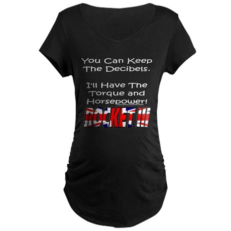 Torque & Horsepower Maternity Dark T-Shirt