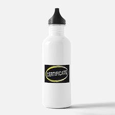 Certificate Blackboard Water Bottle