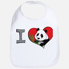 I heart pandas Bib