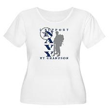 I Support Grandson 2 - NAVY  T-Shirt