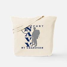 I Support Grandson 2 - NAVY  Tote Bag