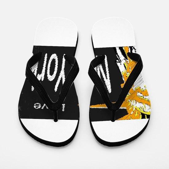 New York Blackboard Flip Flops