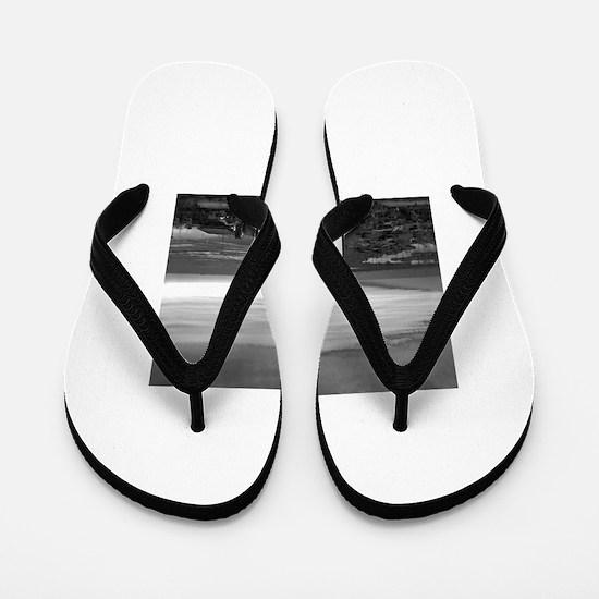 Black & White Sunset Flip Flops