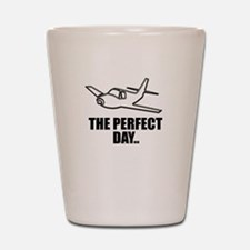 flying airplane Shot Glass
