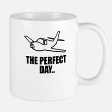 flying airplane Mugs