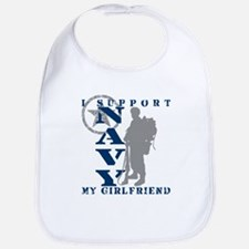 I Support Girlfriend 2 - NAVY Bib
