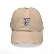 I Support Girlfriend 2 - NAVY Baseball Cap