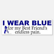 I Wear Blue For My Best Friend's Pain Bumper Bumper Sticker