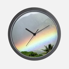 Manoa Valley Rainbow Hawaii Wall Clock