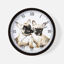 French Bulldog Art Wall Clock