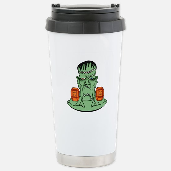 Frankenstein in dumbbel Stainless Steel Travel Mug