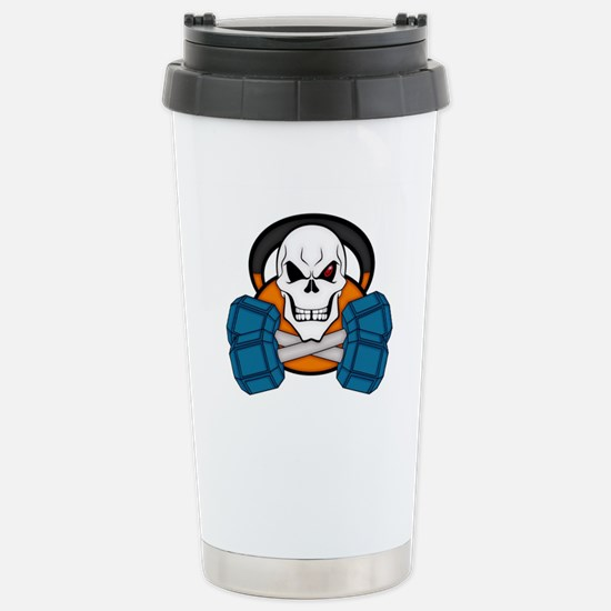 Skull love's weights Stainless Steel Travel Mug