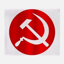 Russian Hammer and Sickle Throw Blanket