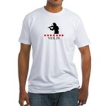 Violin (red stars) Fitted T-Shirt