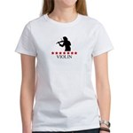 Violin (red stars) Women's T-Shirt