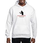 Violin (red stars) Hooded Sweatshirt