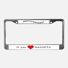 Aarrroooo! License Plate Frame