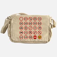 Road Traffic Signs Messenger Bag