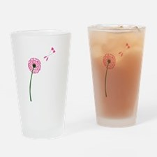 Dandelion Heart Seed Lovers Drinking Glass