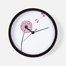 Dandelion Heart Seed Lovers Wall Clock
