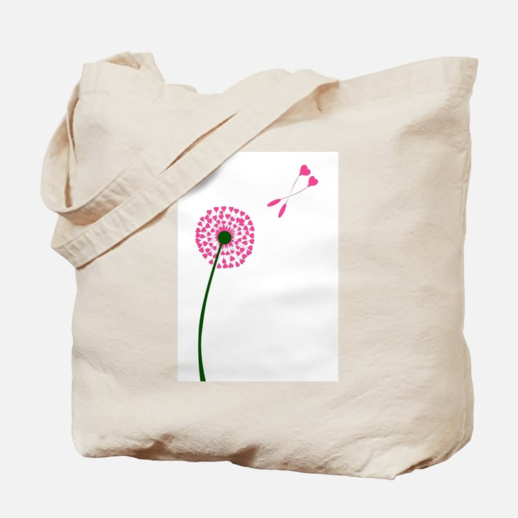 Dandelion Heart Seed Lovers Tote Bag