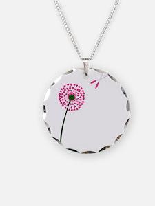 Dandelion Heart Seed Lovers Necklace
