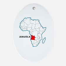 Cute Angola Oval Ornament