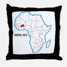 Cute Burkina faso Throw Pillow
