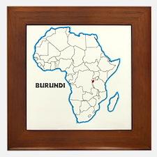 Cute Burundi Framed Tile