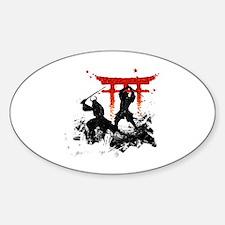 Cute Ninja Sticker (Oval)