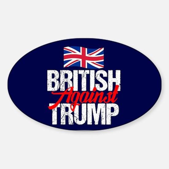 British Against Trump Sticker (Oval)