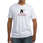 Skateboarding (red stars) Fitted T-Shirt