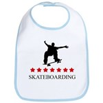 Skateboarding (red stars) Bib