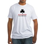 Shamrock (red stars) Fitted T-Shirt