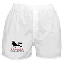 Scuba Diving (red stars) Boxer Shorts