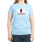 Saxaphone (red stars) Women's Light T-Shirt