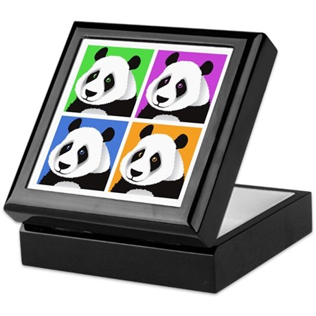 Panda Bear Squares Keepsake Box