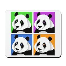Panda Bear Squares Mousepad