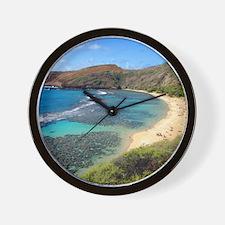 Hanauma Bay Hawaii Wall Clock