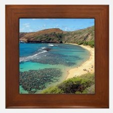 Hanauma Bay Hawaii Framed Tile